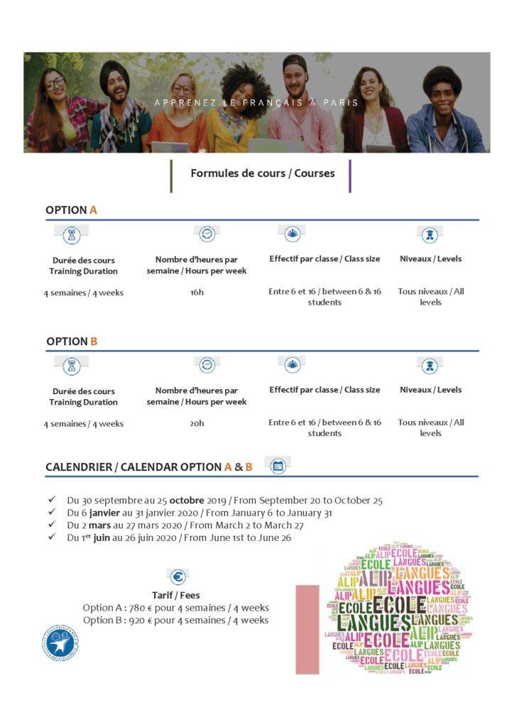 ALIP 4 weeks training in French – ALIP – Language school – Paris